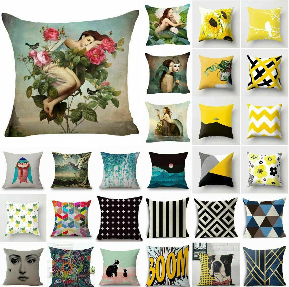 Cotton Linen Pillow Case Sofa Car Waist Throw Wholesale Cushion Cover Home Decor
