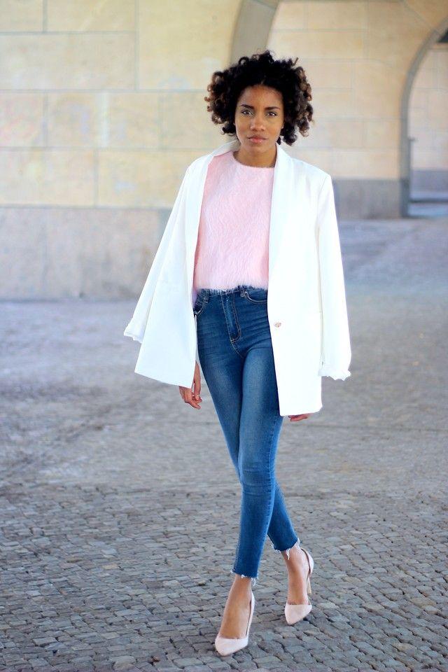 how to wear a white blazer <3