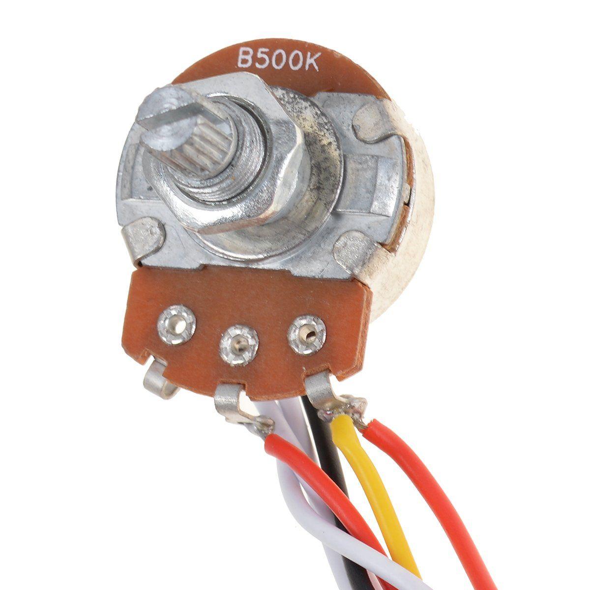 Kmise Mi0316 3 Pickup Guitar Wiring Harness Prewired With 500k Pots 5 Way 1 Volume