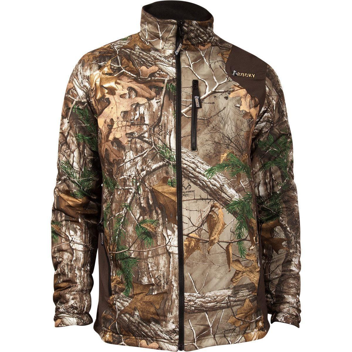 Rocky prohunter mens realtree polyester reversible dwr fleece jacket