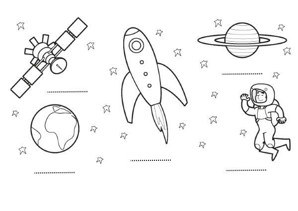 El espacio: dibujos para colorear e imprimir | colegio | Pinterest ...