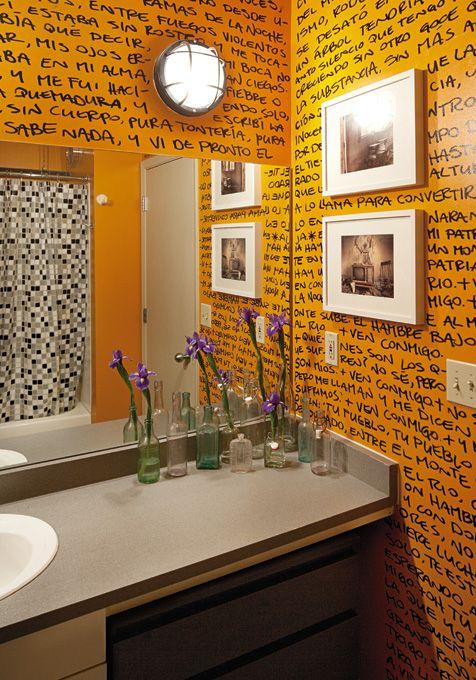 Creative class: DIY design - Page 2  poetry on bathroom wall. love