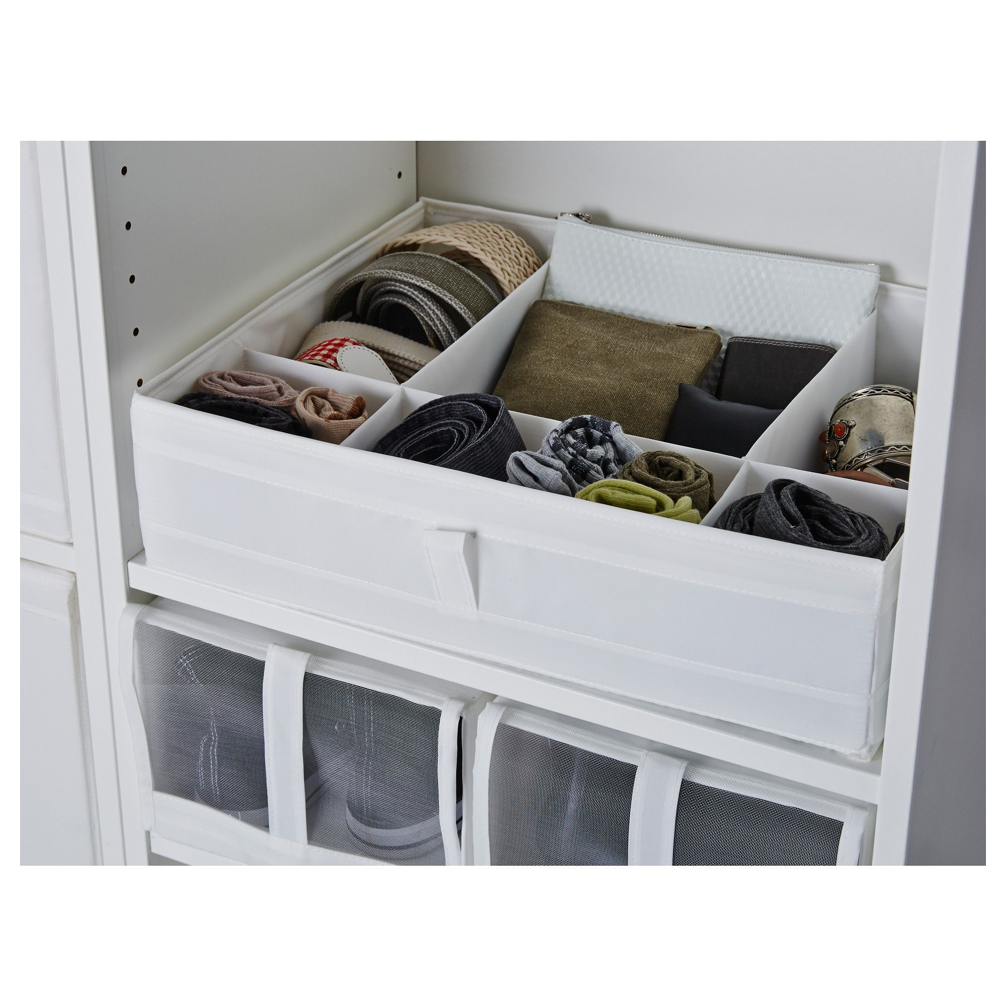 Best Ikea Skubb Box With Compartments White Small Closets 400 x 300