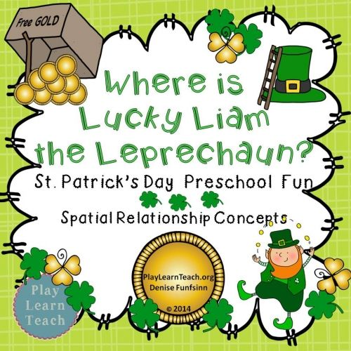 St.Patrick's Day Fun - Spatial Relationship Concepts-Positional Words for preschool and kindergarten students.  $