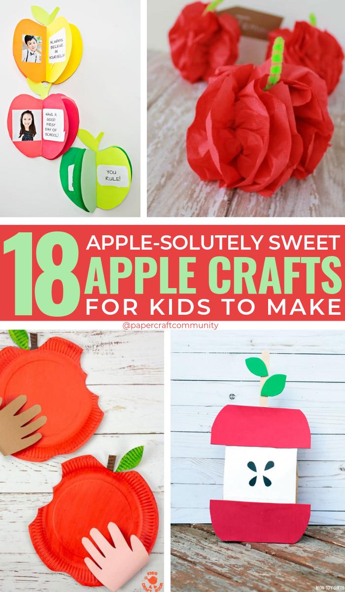 18 поделок из сладкого яблока для детей
