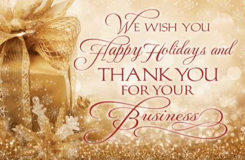 Golden Happy Holidays Free Greeting Card Template  Off Ends