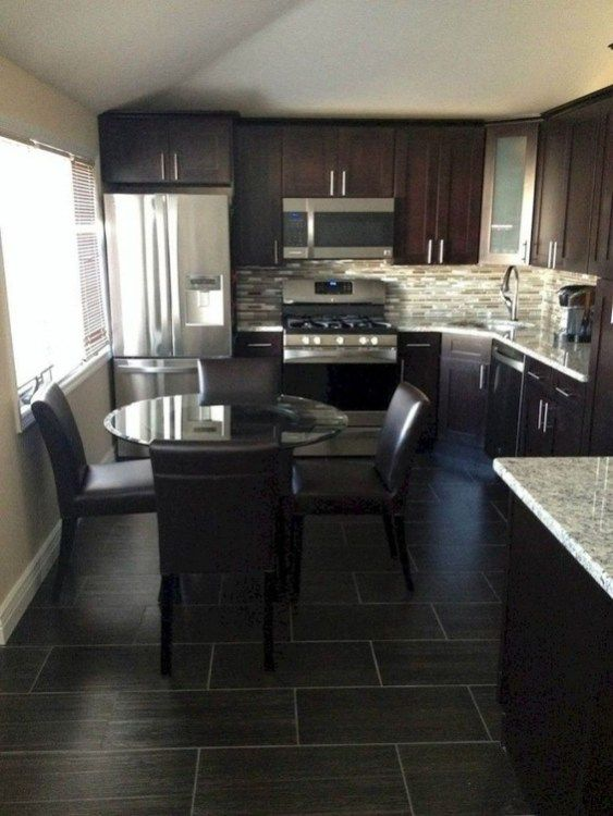 43 Elegant Kitchen Backsplash Decor Ideas With Dark Cabinets - Kitchen backsplash designs, Simple kitchen, Trendy kitchen backsplash, New kitchen cabinets, Elegant kitchens, Colorful kitchen backsplash - 1  Map it out  The backsplash is quite literally one of the first things you notice when you enter a …