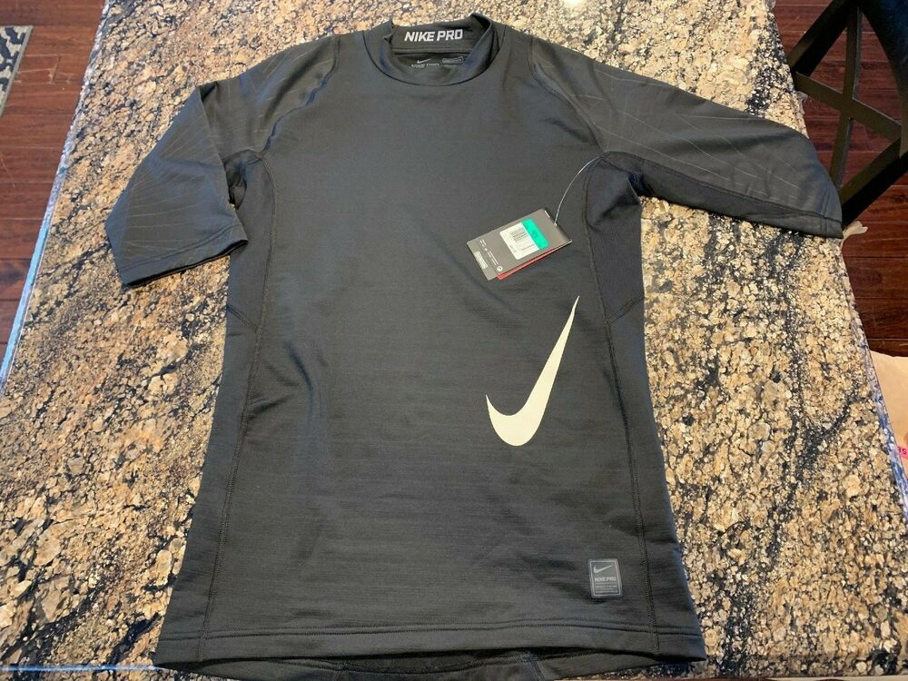 2cfe14e8 Nike Pro Compression DRI FIT Hyperwarm Training Shirt 804332 010 Black Size  XL #Nike #ShirtsTops