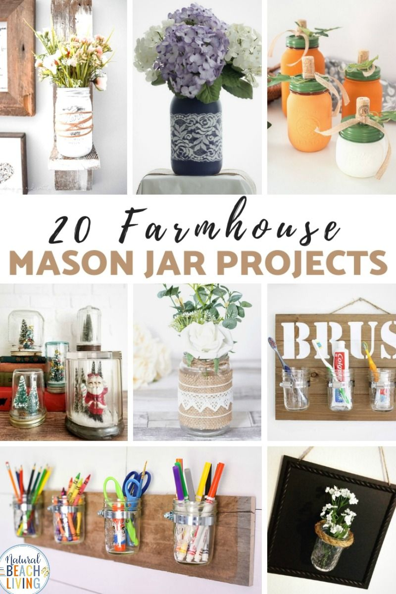 Diy Farmhouse Mason Jars Can Be So Simple And Inexpensive To Make But They Look Great These Diy Mason Jar Ideas A Mason Jar Diy Mason Jars Mason Jar Projects