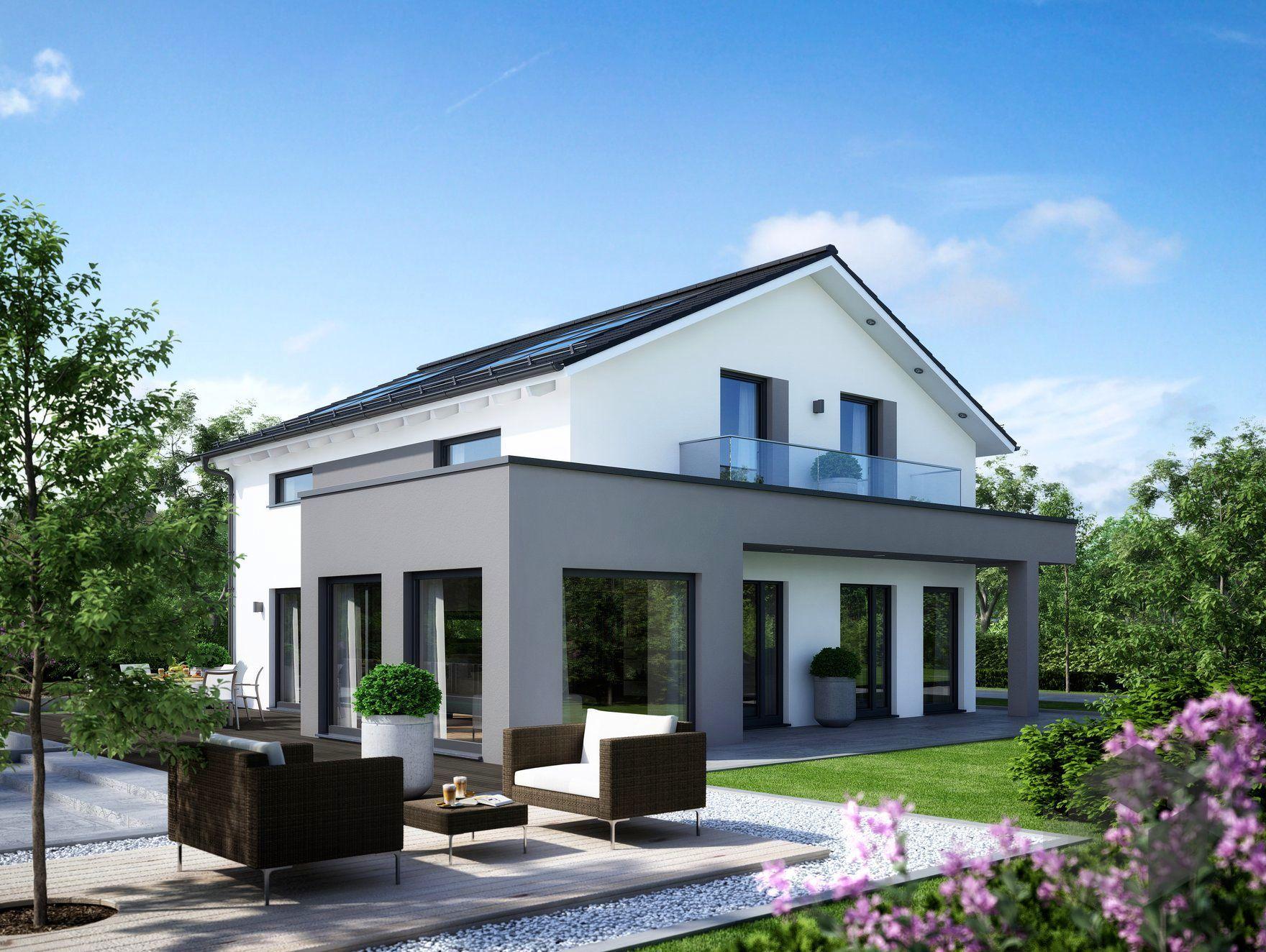 sunshine 165 von living haus by bien zenker klassiker satteldach fertigh user haus haus. Black Bedroom Furniture Sets. Home Design Ideas