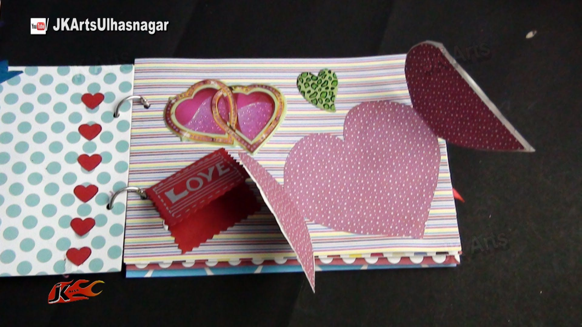 DIY Scrapbook Tutorial | Valentine's Day Gift Idea | How to make a Scrap...
