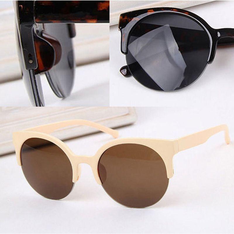 Aliexpress.com: Comprar Retro Semi sin montura ojo de gato gafas de ...