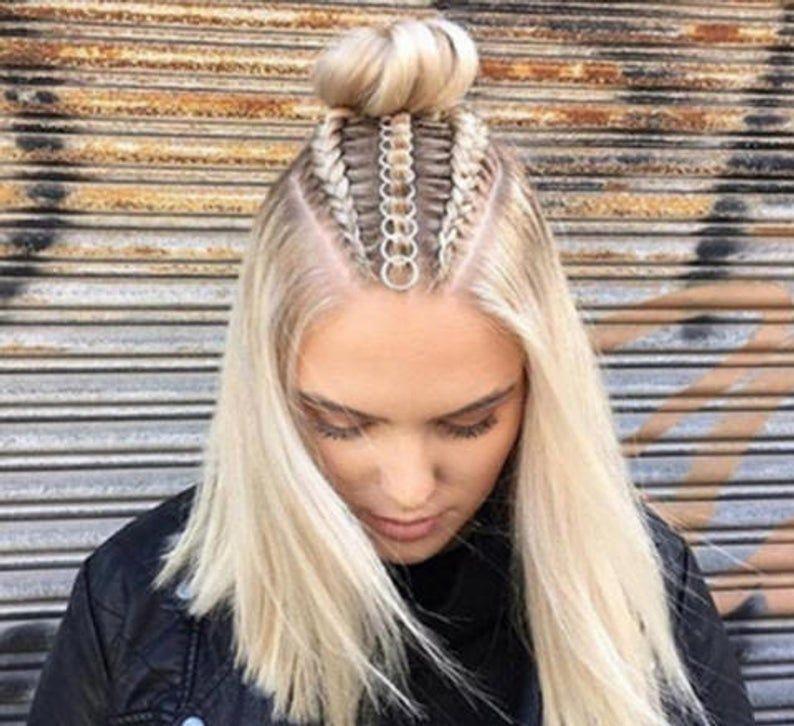 Braid Rings Set Custom Hair Hoops Beach Weddings Boho Jewelry | Etsy