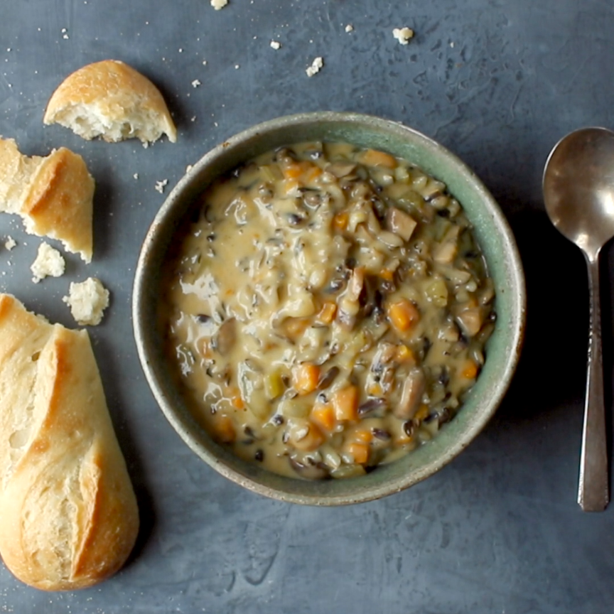 Pot Creamy Mushroom Wild Rice Soup Wild Rice Soup in the Instant Pot! So creamy and simple. Perfect for fall/winter nights! | Wild Rice Soup in the Instant Pot! So creamy and simple. Perfect for fall/winter nights! |