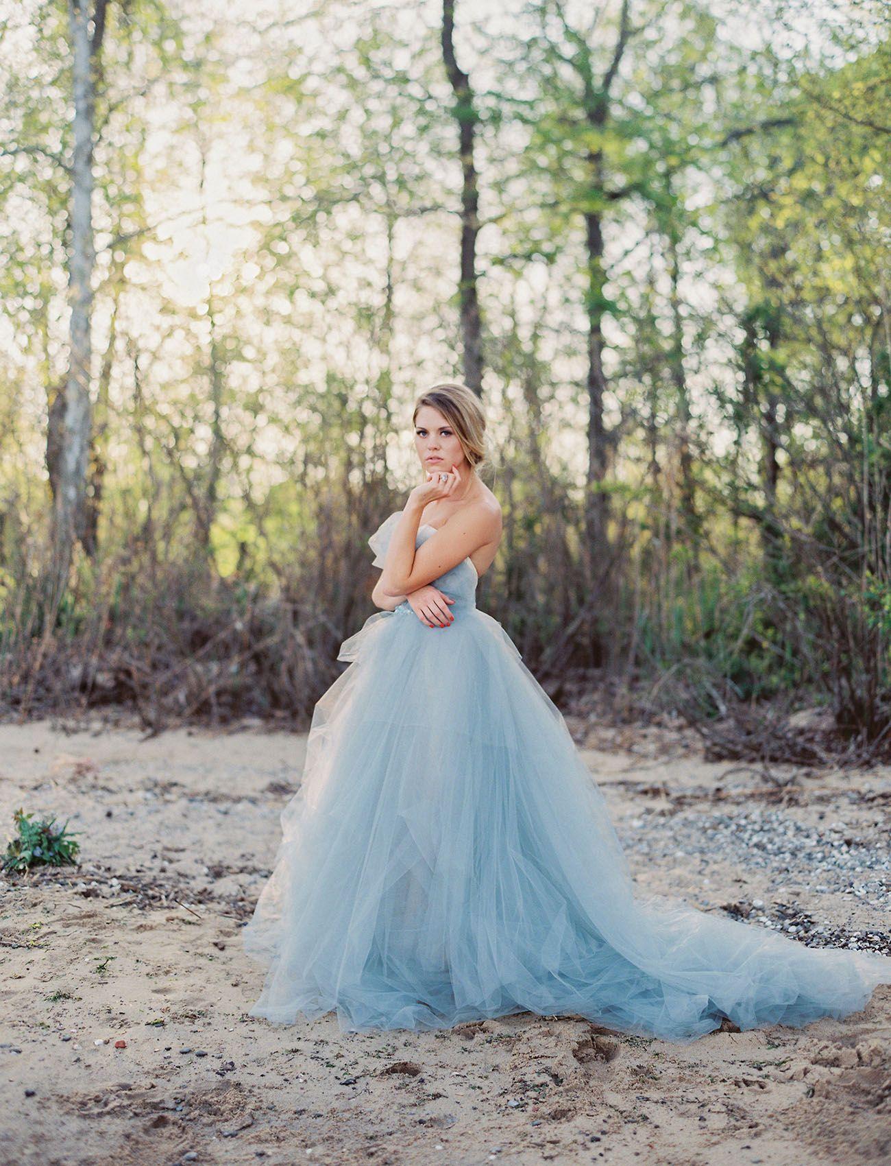 Ethereal Coastal Wedding Inspiration Green Wedding Dresses Blue