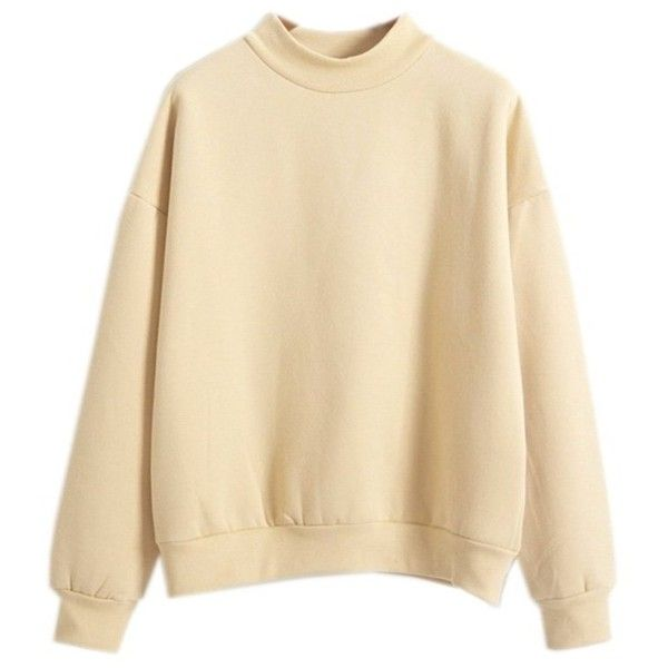 Harajuku Pastel Khaki Hoodies Sweatshirts for Womens (Size M) (2.105 UYU) ❤
