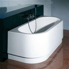 Hoesch HappyD kunststof bad acryl wand met paneel-plint-onderstel ...