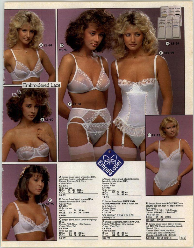 Mail order lingerie catalogs