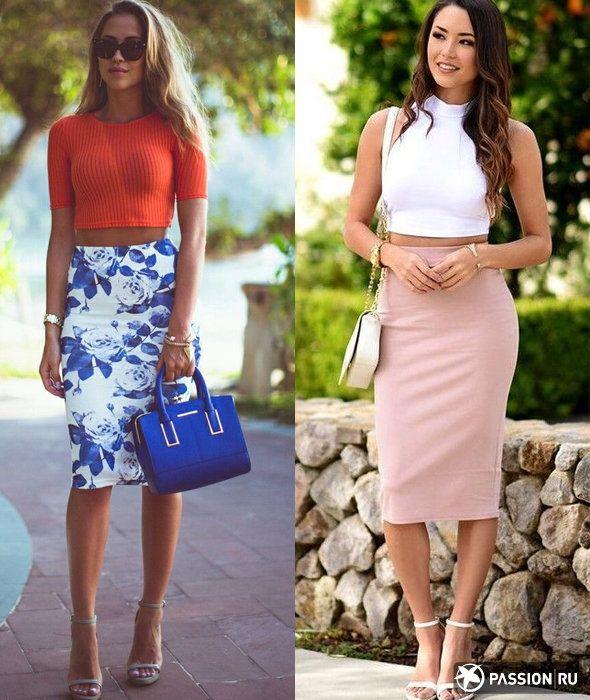 93d48eb29202 Кроп-топ + юбка-карандаш | Style | Юбка, Одежда и Женская мода
