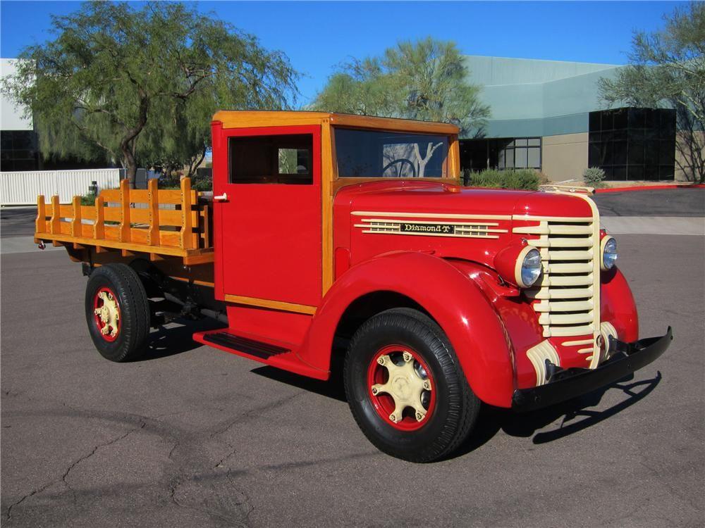 1942 Diamond T 201 S 1 Ton Stake Bed Truck Trucks Big Trucks
