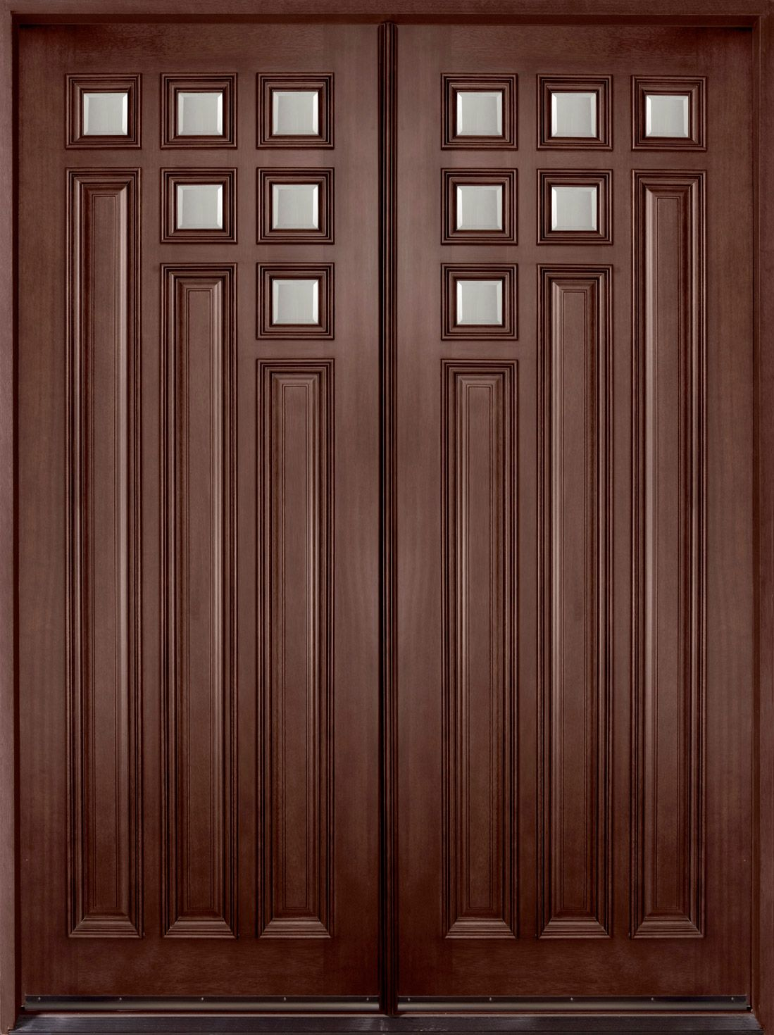 Lovely Fiberglass Slab Entry Door