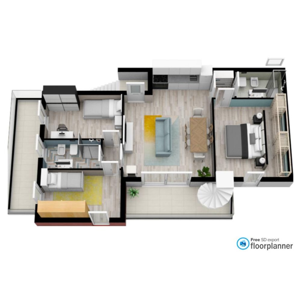 3d Plan Made By A Member On Floorplanner Com In 2020