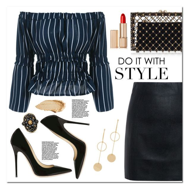 """""""Do it with Style"""" by christinacastro830 ❤ liked on Polyvore featuring Cloverpost, McQ by Alexander McQueen, Jimmy Choo, Charlotte Olympia, Estée Lauder, Urban Decay and Gucci"""