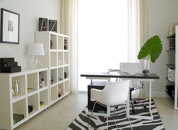 Bringen Sie die Frühlingszeit in Ihr Winterheimbüro Black and - raumausstattung ideen