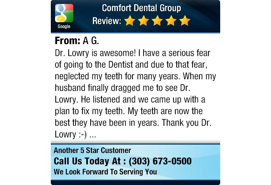 Dr. Lowry is awesome!  I have a serious fear of going to the Dentist and due to that fear,...