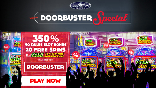DOORBUSTER pre Black Friday Bonus Coupon Cool Cat Casino