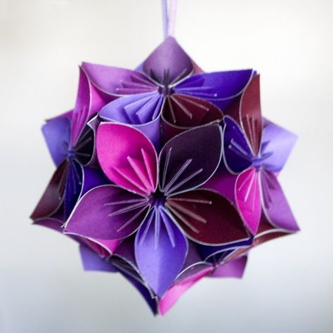 Origami flower ball paper creations pinterest flower ball origami flower ball mightylinksfo