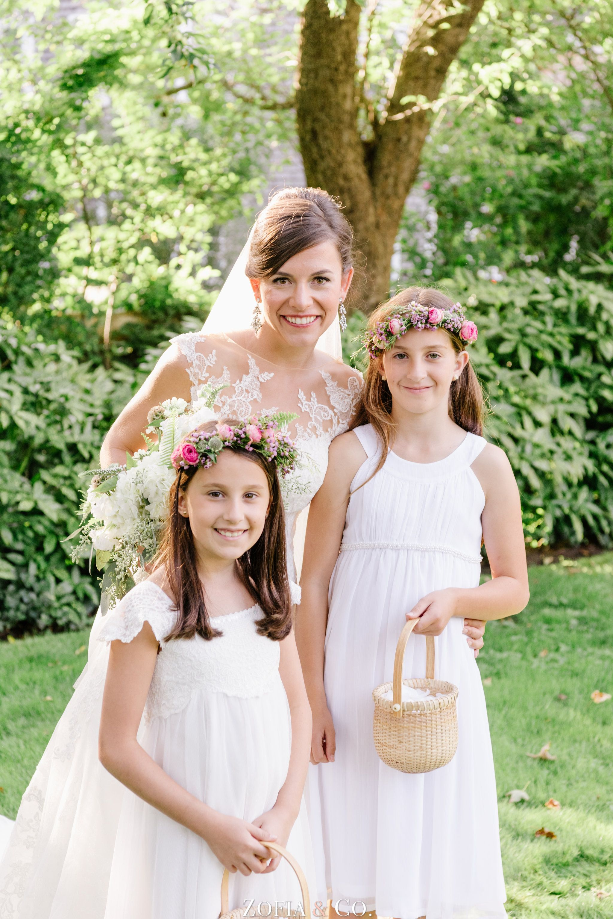 Nantucket Wedding Flower Girl Crowns And Baskets Soiree Floral