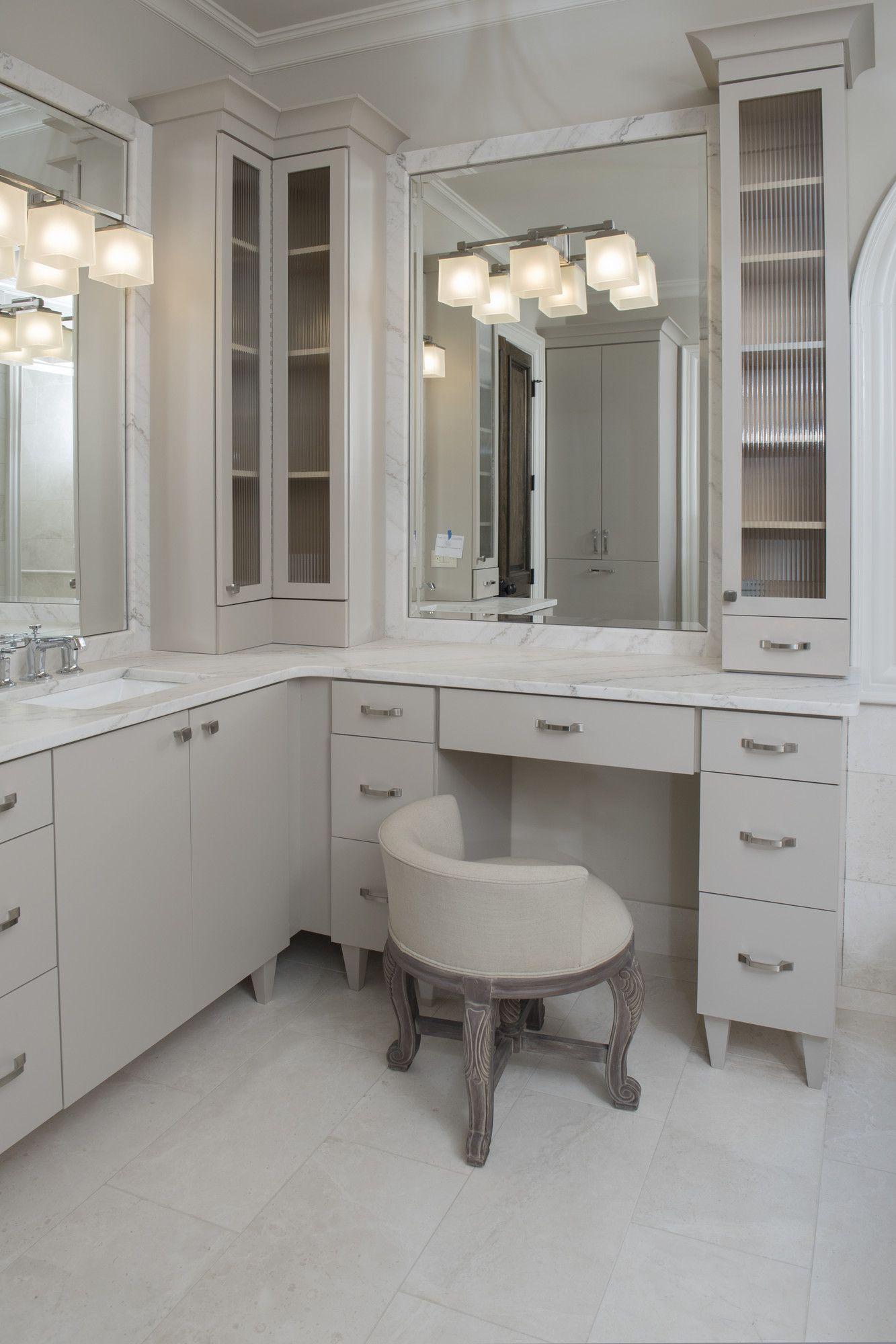 L Shape Vanity Master Bathroom Vanity L Shaped Bathroom