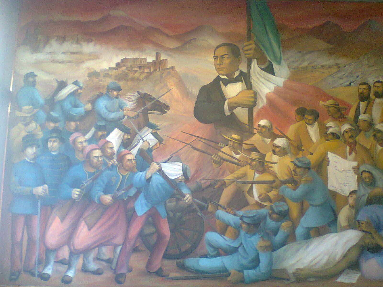 Mural de benito ju rez adentro del castillo castillo de for Benito juarez mural