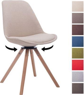 Design Stuehle design retro stuhl troyes rund stoff sitz gepolstert drehbar