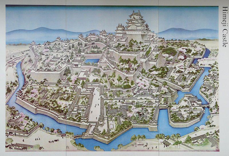 Himeji castle map carto Pinterest Castles