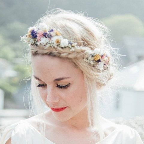 02ba990f3e208b Festival Meadow Dried Flower Hair Crown in 2019 | June 15th ...
