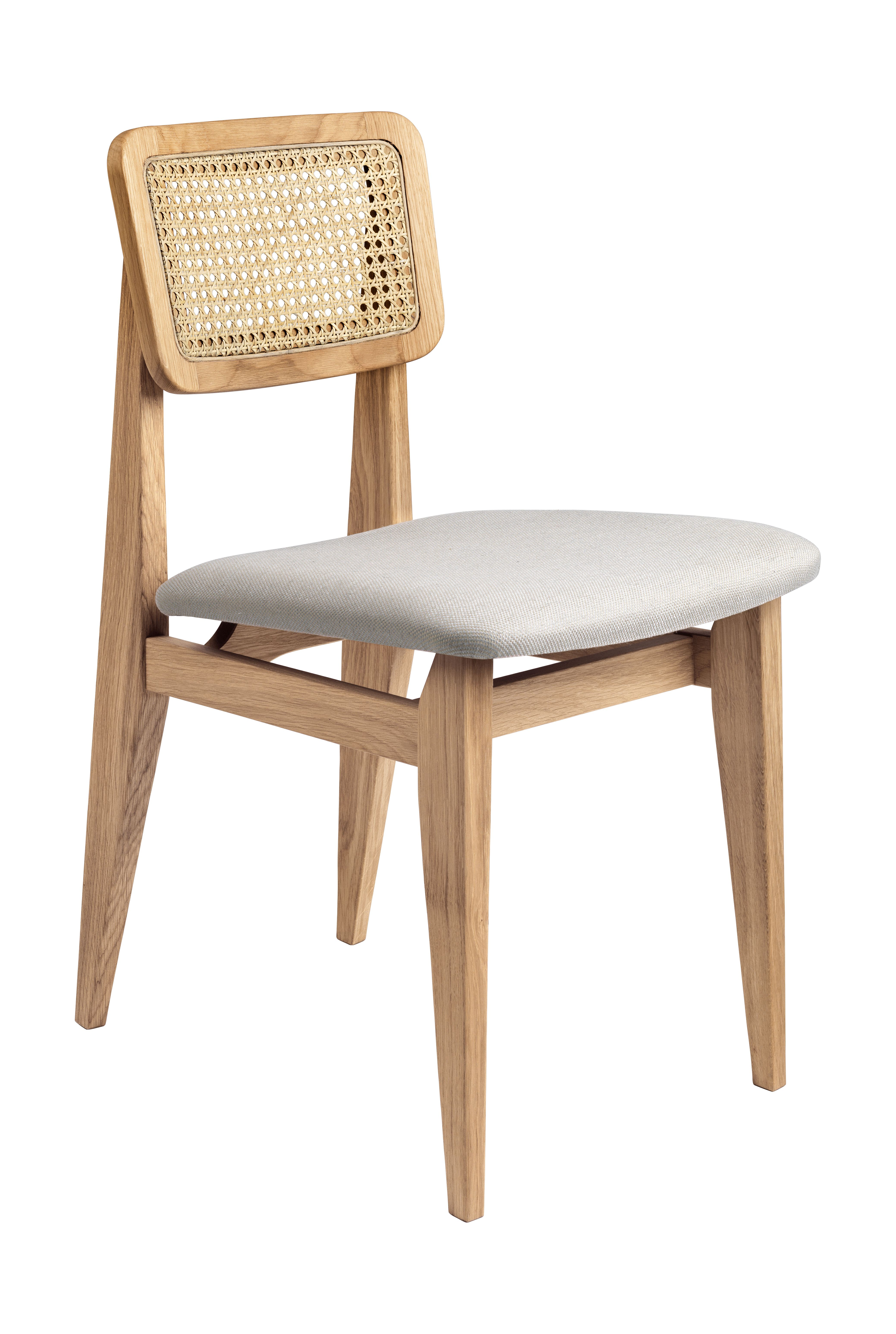 Gubi C Chair Dining Chair Seat Upholstered French Cane By
