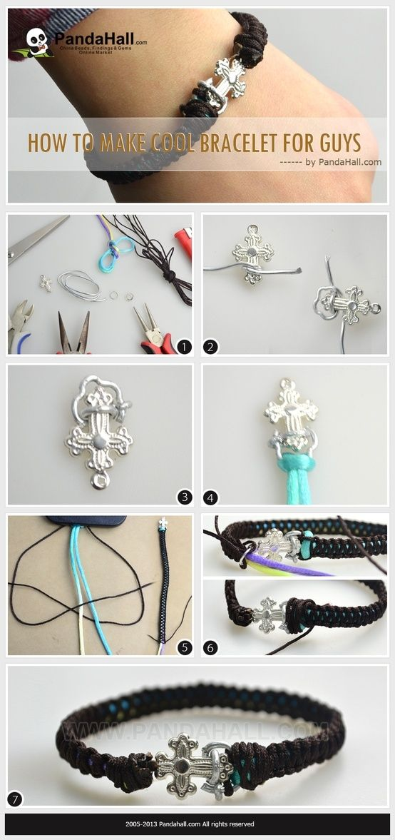 How to make cool bracelets for guys- a practical tutorial for male ...