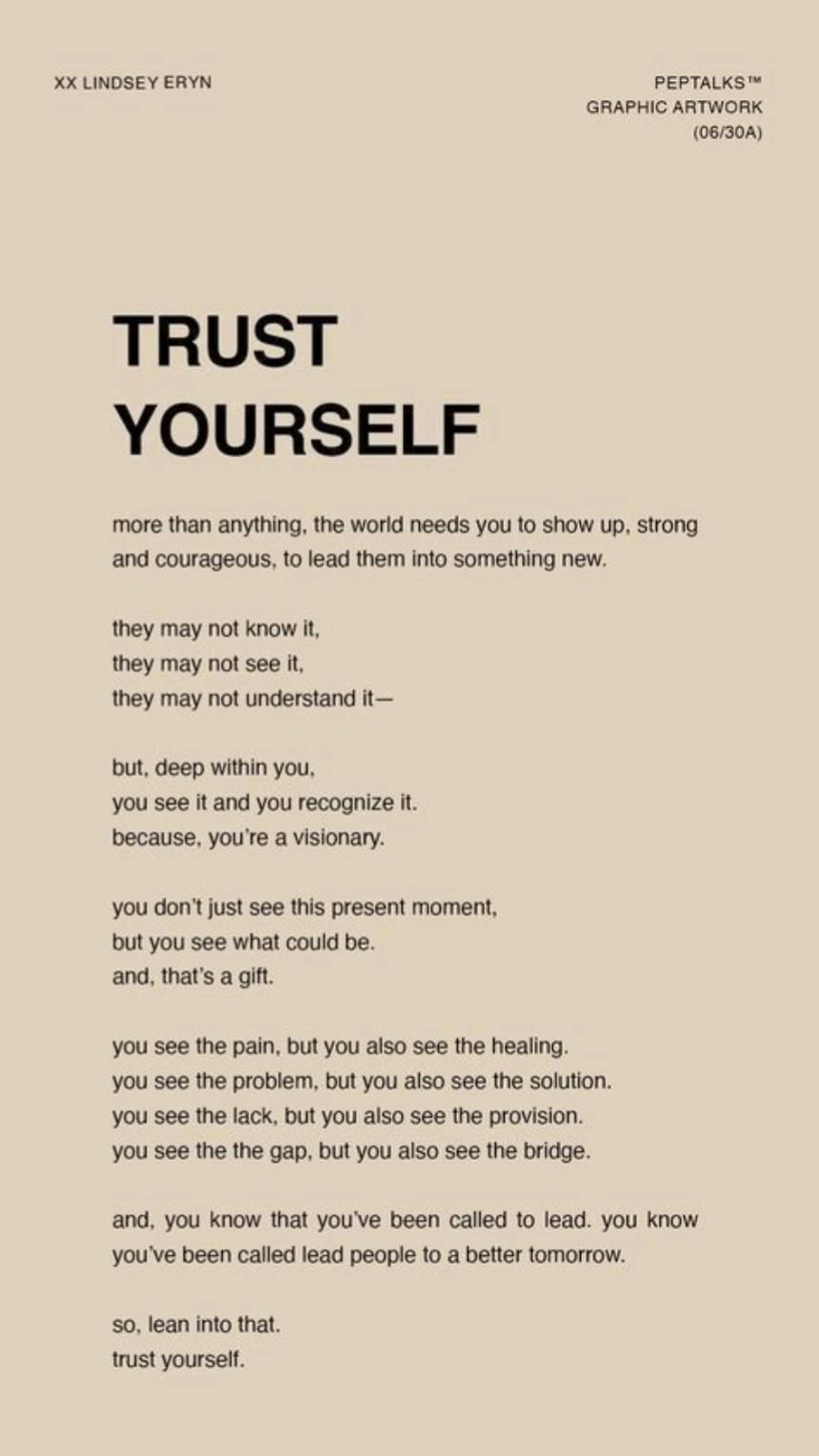 Trust You💥Trust The Proccess💥Create Your Own Reality💥