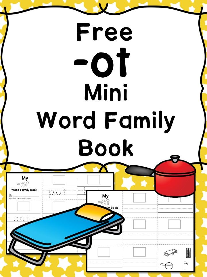 Printable Worksheets word families worksheets kindergarten : OT CVC Word Family Worksheets -Make a word family book! | Cvc word ...