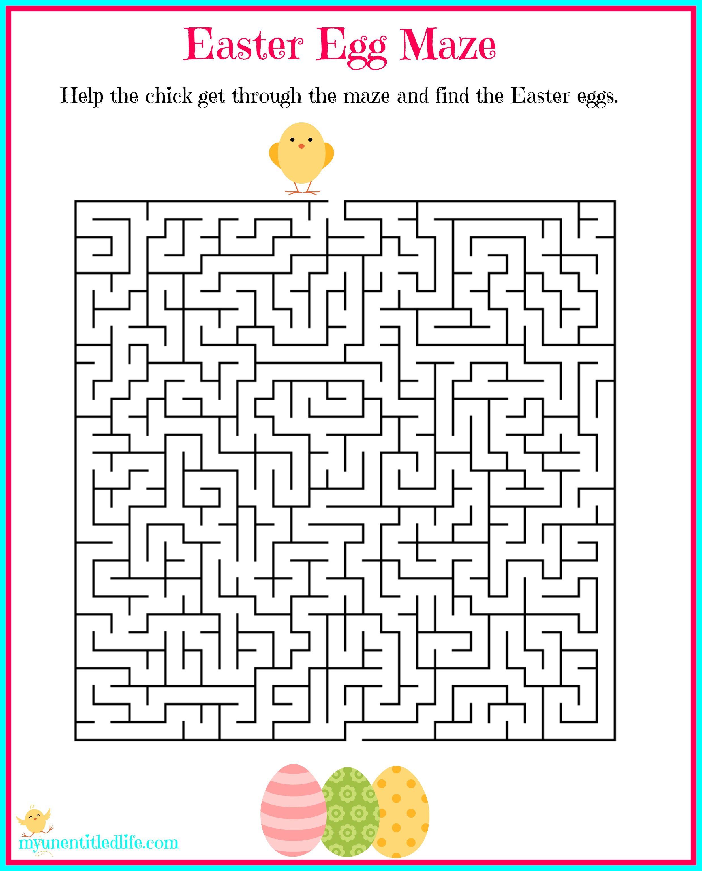 Easter Egg Maze Free Printable