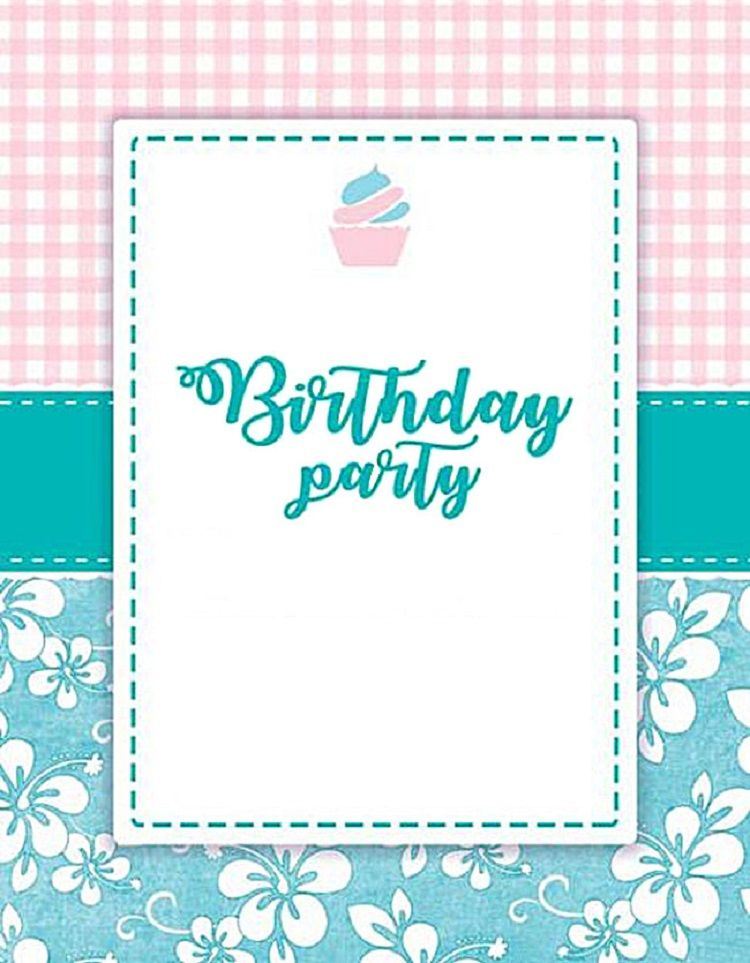 Pink Birthday Invitation Background