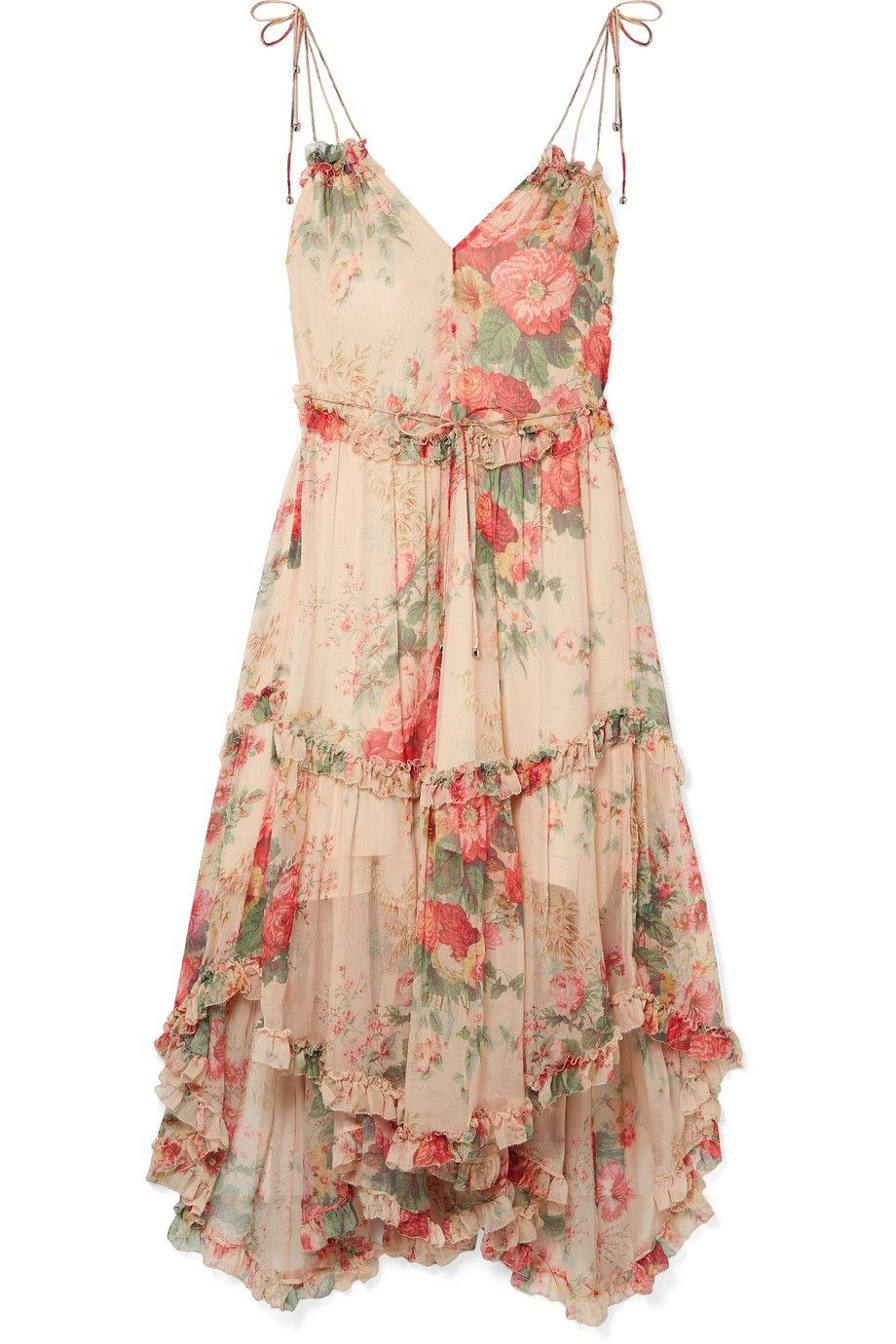 Laelia floral-print silk dress Zimmermann Ox7Q5CqIz