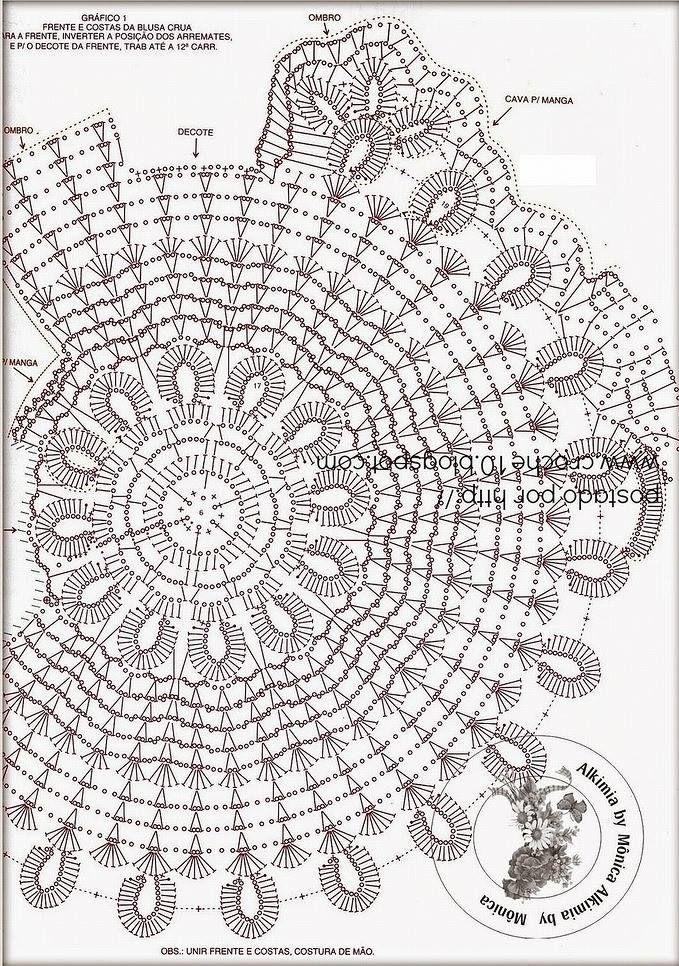 Pin de Ade Joplin en Blusas modernas tejidas | Pinterest | Croché ...