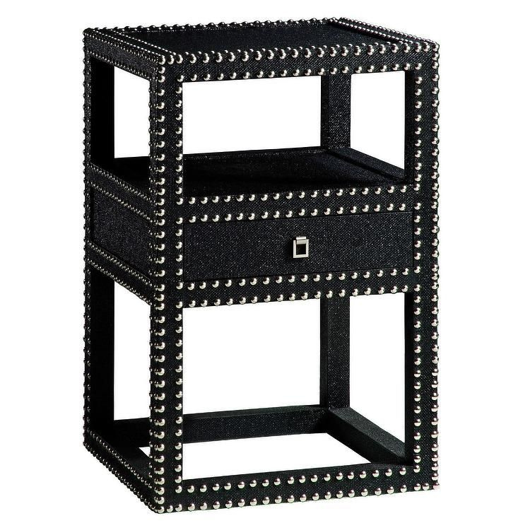 Best Bungalow 5 Marco One Drawer Side Table Black I Layla 400 x 300
