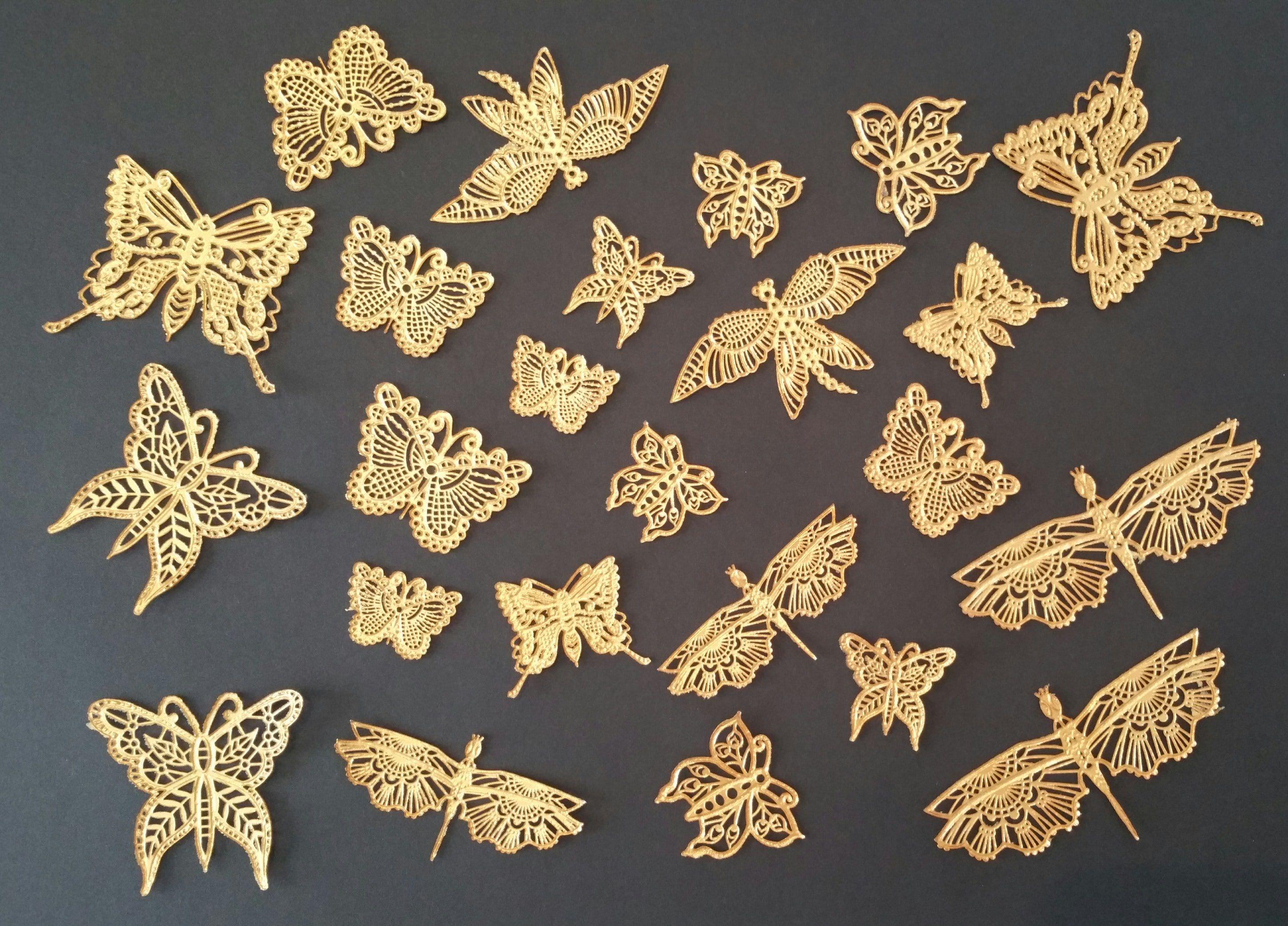 Goldene essbare Schmetterlinge