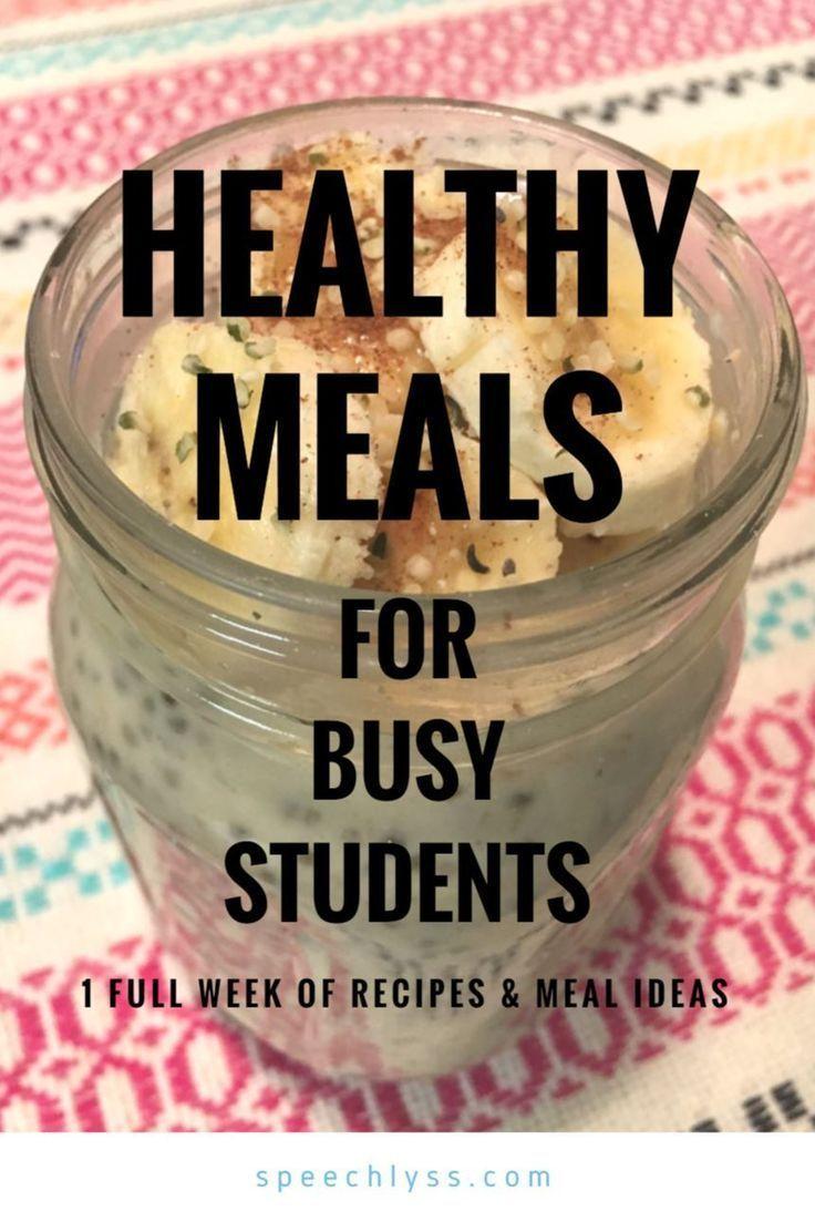 1 Full Week of Grad School Healthy Meals & Recipes images