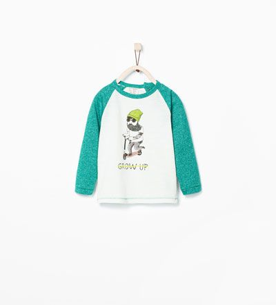 """GROW UP"" GRAPHIC T-SHIRT-T-shirts-Baby boy (3 months - 3 years)-KIDS 