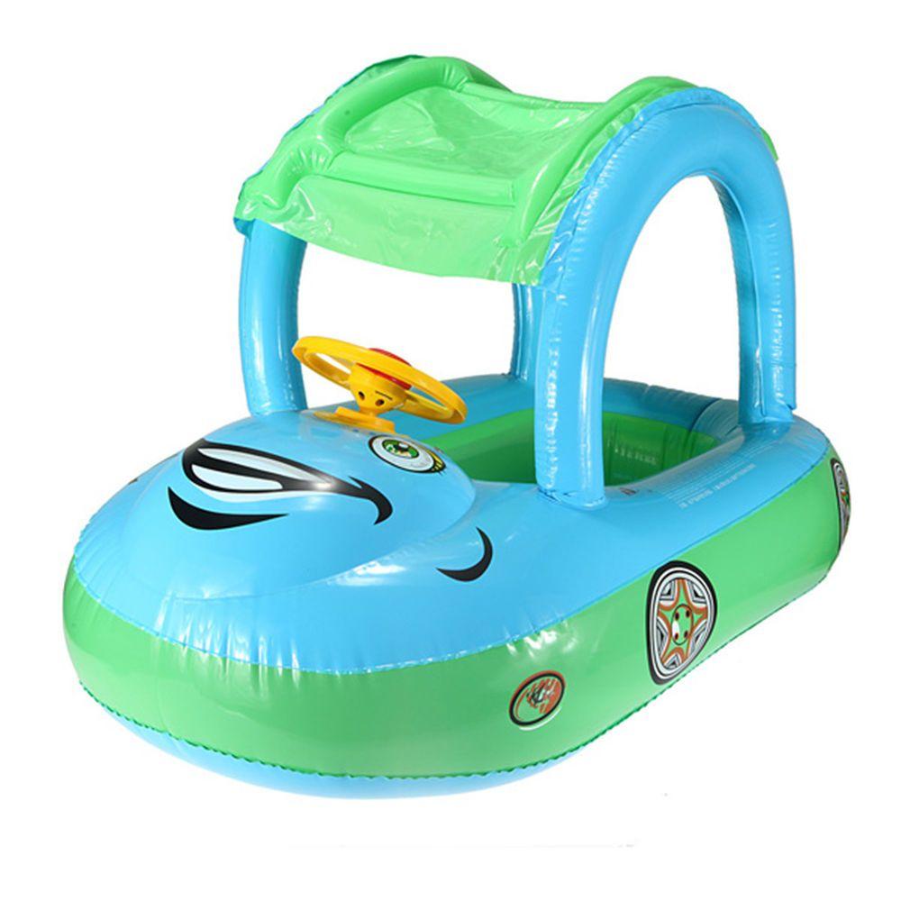 inflatable baby float seat boat tube ring car sun shade swim